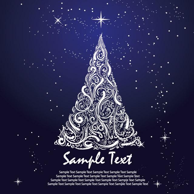 درخت کریسمس همراه با ستاره