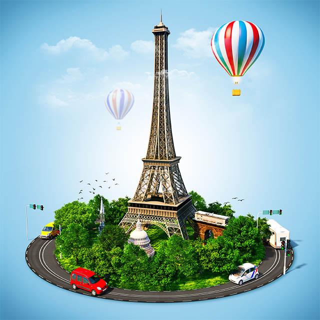 تصویر استاک با موضوع سفر به فرانسه