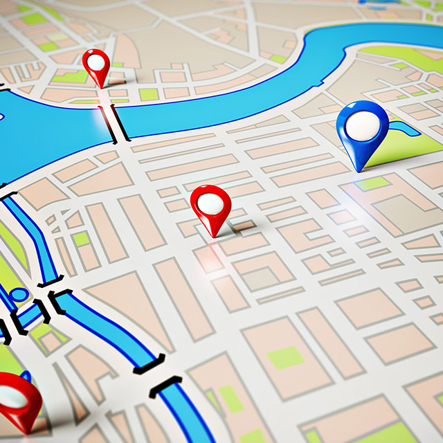دانلود تصویر HD (استاک) نقشه و مکان یاب GPS