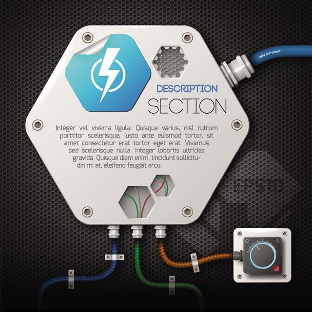 وکتور سمبلیک منبع انرژی و کنترلر