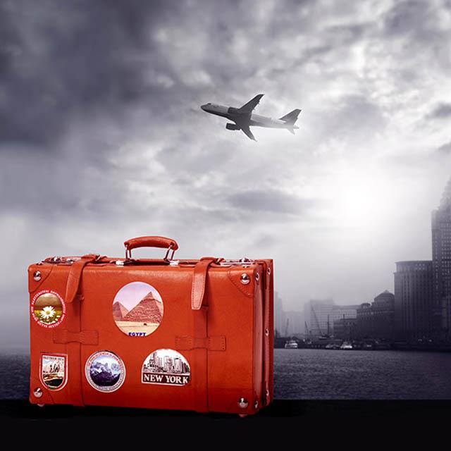 تصویر استاک چمدان با مضمون سفر