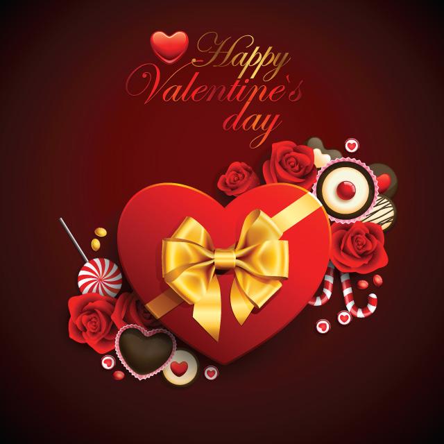 پاکت تبریک ولنتاین همراه با شکلات