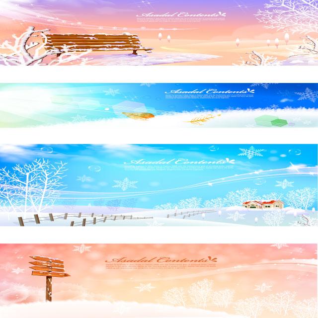 مجموعه پس زمینه های زمستانی