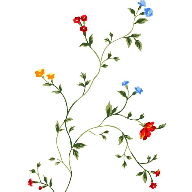 دانلود وکتور بوته گل ریز رنگی شماره 3