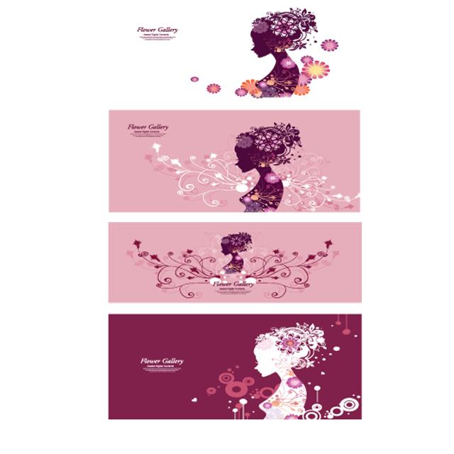 دانلود کاراکتر دخترانه موی گلدار