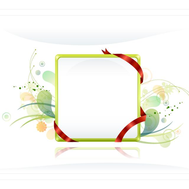 دانلود وکتور قاب ساده با پس زمینه سبز