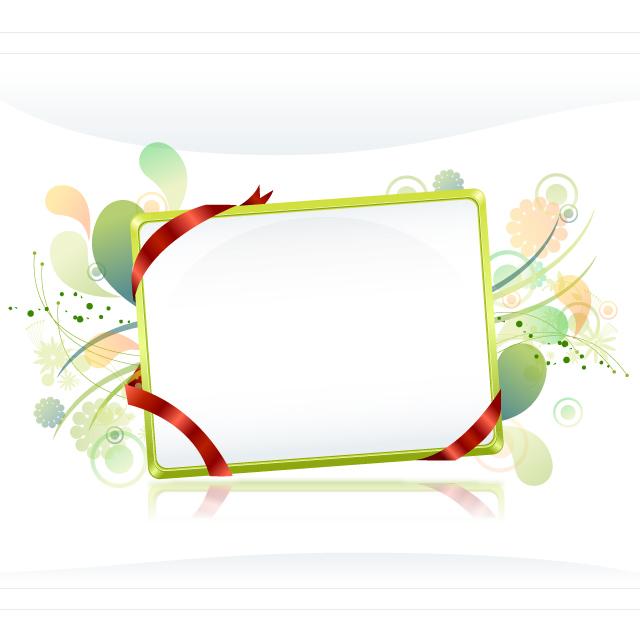 دانلود وکتور جدید قاب ساده با پس زمینه سبز