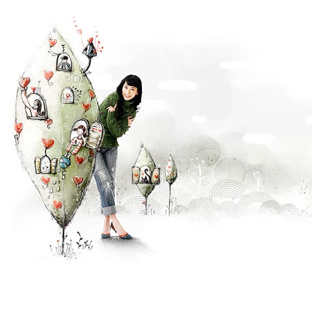 دانلود پس زمینه کارتونی دختر کره ای