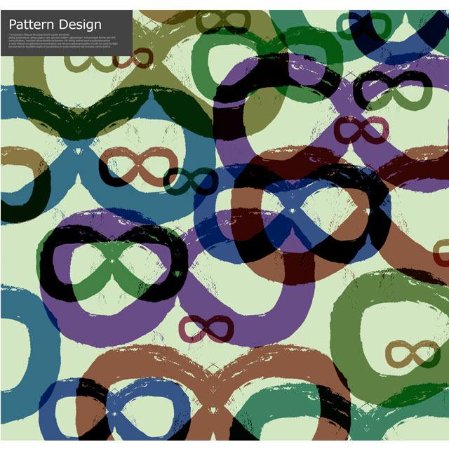 دانلود پترن طرح عینک رنگی