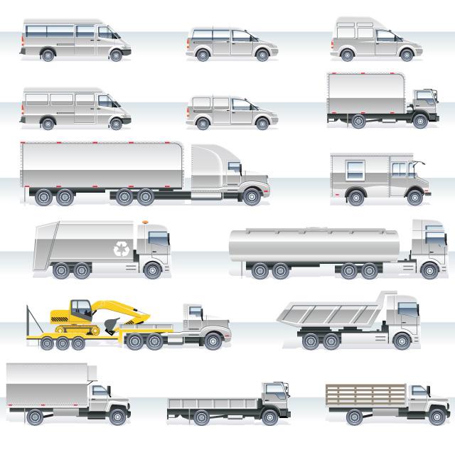 دانلود مجموعه وکتور حمل و نقل سفید