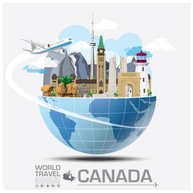 وکتور  فلت با موضوع سفر به کانادا