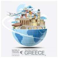 travel_to_greece_vector