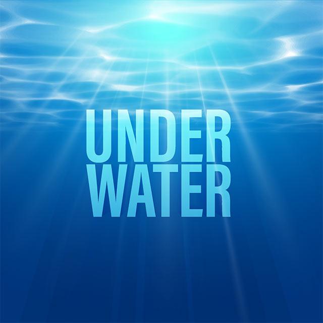 وکتور فانتزی آمواج و دریا از زیر آب