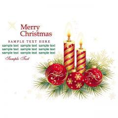 دانلود وکتور شمع و گوی کریسمس