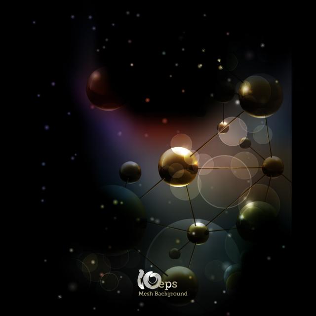دانلود وکتور مولکول گرافیکی