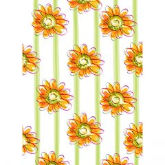 orange_floral_background9