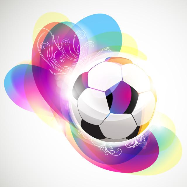 دانلود وکتور آبستره توپ فوتبال شماره 3