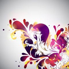 دانلود وکتور بوته گل ابستره زیبا