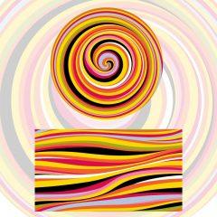 دانلود وکتور پترن رنگی حلزونی