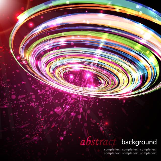 دانلود وکتور دایره نوری رنگی گرافیکی