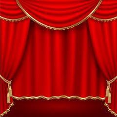 وکتور پرده تئاتر قرمز