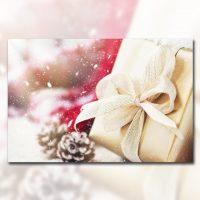 دانلود تصویر استوک جعبه کادو کریسمس