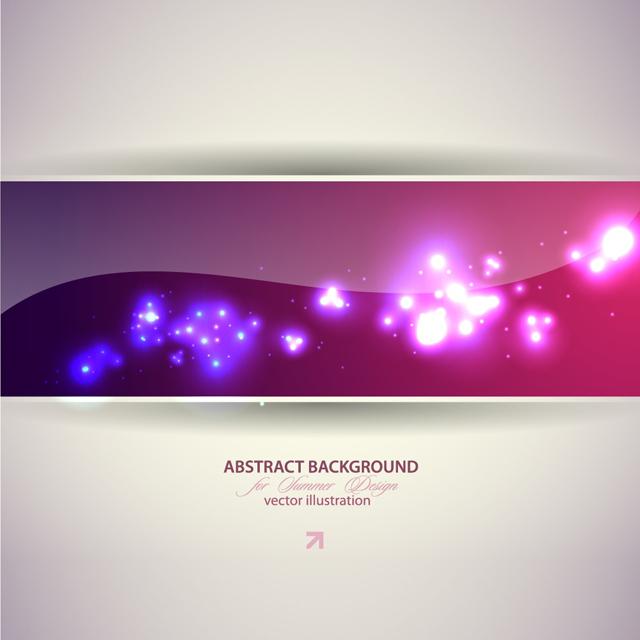 دانلود وکتور پس زمینه نورهای رنگارنگ
