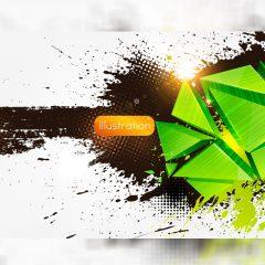 دانلود وکتور پس زمینه سبز و قهوه ای با نور زیبا