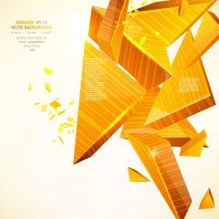 دانلود وکتور پس زمینه نارنجی اشکال هندسی