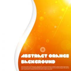دانلود وکتور پس زمینه شیک نارنجی و سفید