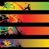 دانلود وکتور پس زمینه با رنگ های روشن