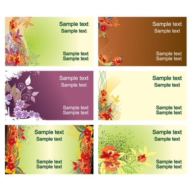 دانلود وکتور پس زمینه با 6 طرح مختلف گل