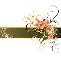 دانلود وکتور پس زمینه قهوه ای با گل رنگی