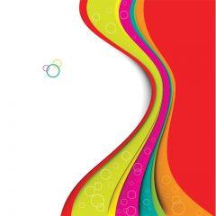 دانلود وکتور پس زمینه منحنی رنگارنگ