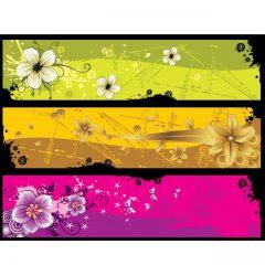 دانلود وکتور پس زمینه با رنگ های مختلف و تم گل