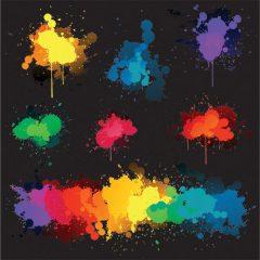 دانلود وکتور پس زمینه مشکی با بخش شدن انواع رنگ