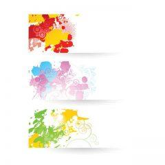 دانلود وکتور پس زمینه با سه رنگ بندی شاد
