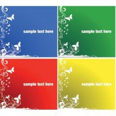 دانلود وکتور پس زمینه با4 رنگ مختلف