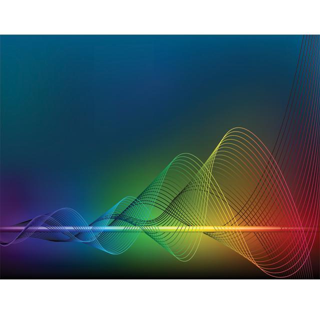 دانلود وکتور پس زمینه امواج رنگارنگ