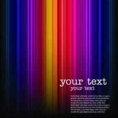 دانلود وکتور پس زمینه مشکی با خط های رنگارنگ زیبا