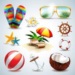 دانلود وکتور طرح های گرافیکی تابستانی