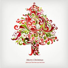 دانلود وکتور طرح جالب درخت کریسمس