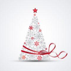دانلود وکتور درخت کریسمس برفی فانتزی