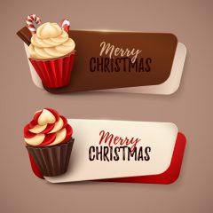 دانلود وکتور شیرینی کریسمس با طرح کوچک و جذاب
