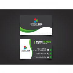 دانلود طرح لایه باز کارت ویزیت شرکتی سبز و مشکی