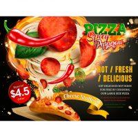 دانلود وکتور پیتزا داغ سفارشی