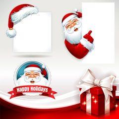 دانلود وکتور جشن کریسمس طرح لایه باز بابانوئل