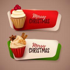 دانلود وکتور کیک فانتزی شیرینی کریسمس