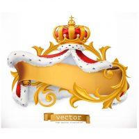 دانلود وکتور لوگو تاج و تخت پادشاهی طلایی