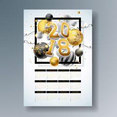 دانلود طرح تقویم 2018 سه بعدی